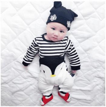 אוברול הדפס פינגווין