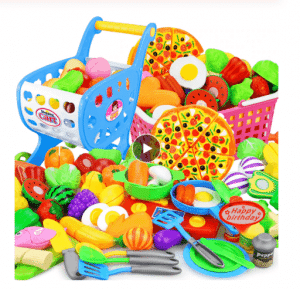 الخضروات البلاستيكية وسلة الفاكهة