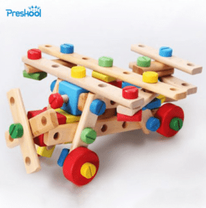 Wooden assembly game for kids