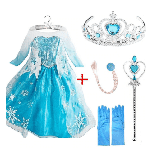 Elsa costume and accessories for girls