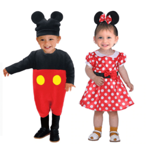 Bags and Minnie Mouse costume
