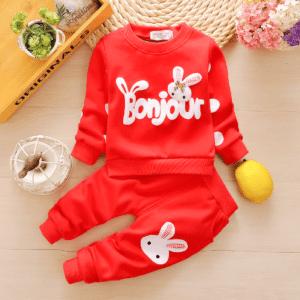 Rabbit print garden suit