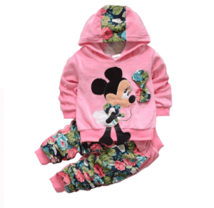 Mickey mouse print garden suit
