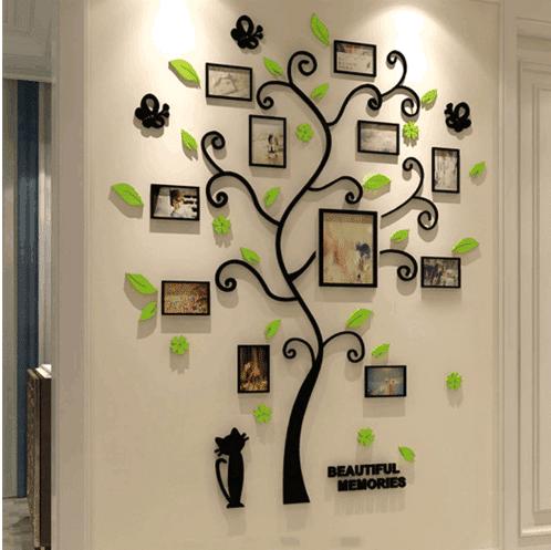 מדבקת קיר עץ משפחתי