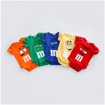 Baby m & m overalls