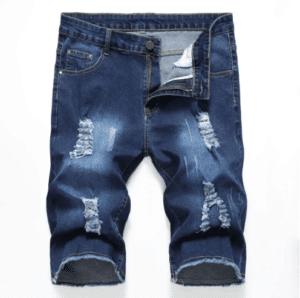 ג'ינס קצר קרעים