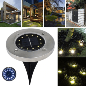 Strong solar garden lighting