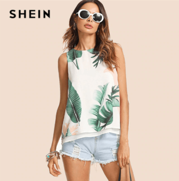 Tropical style tank top