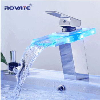 Designed waterfall faucet