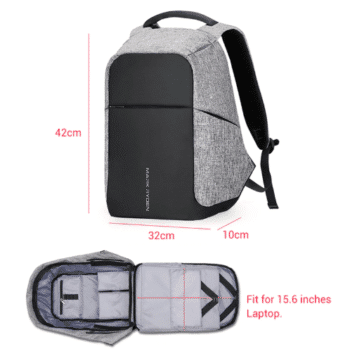 Backpack with mobile charging