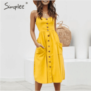 Yellow dress for women