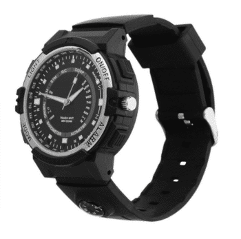 Wristwatch with hidden camera