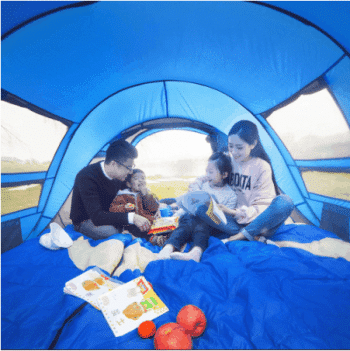 Spacious and large family tent