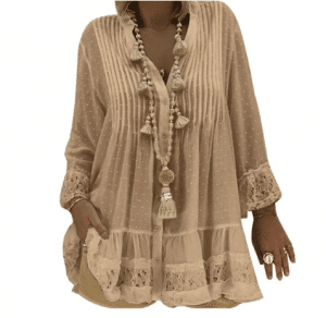 Large size lace shirt