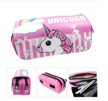 Pencil Case for Girls Unicorn 2 Cells