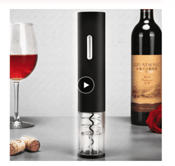 Electric bottle opener for wine
