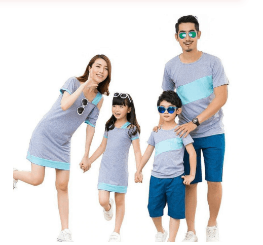 Matching clothes for kids and parents