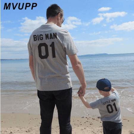 חולצה תואמת לאבא ולבן