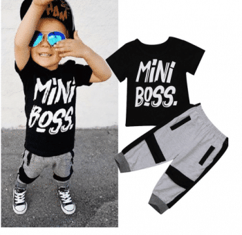 Mini boss suit for kids