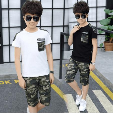 חולצה ומכנס צבאי לילדים
