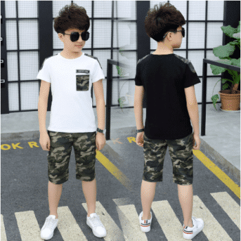 T-shirt and short military pants