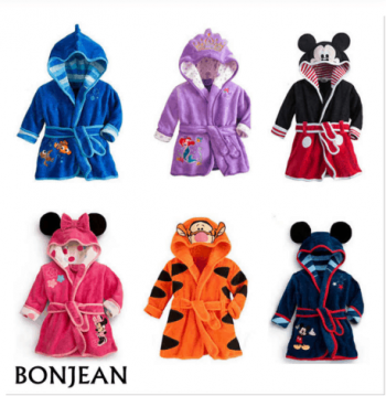 Disney children's bathrobes